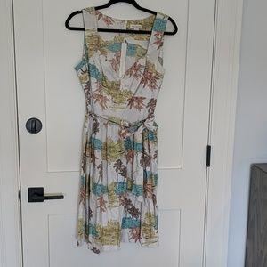 Monsoon dress, 60's style, beach pattern